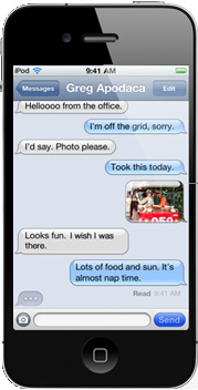 iMessages es una aplicación de mensajería sólo para dispostivos iOS 5