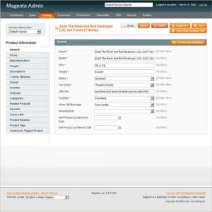 Magento, gestión y creación del catálogo