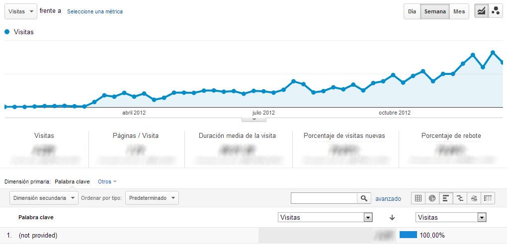 Tráfico not provided en Google Analytics