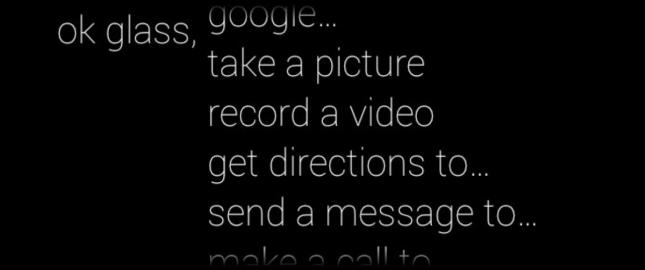 Google Glass Menu de voz