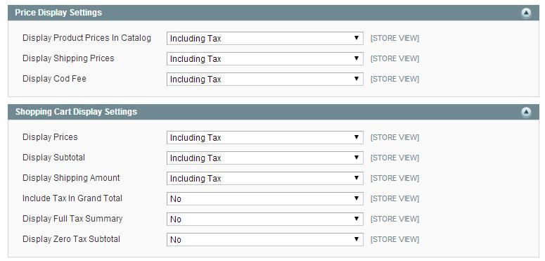 Impuestos en Magento