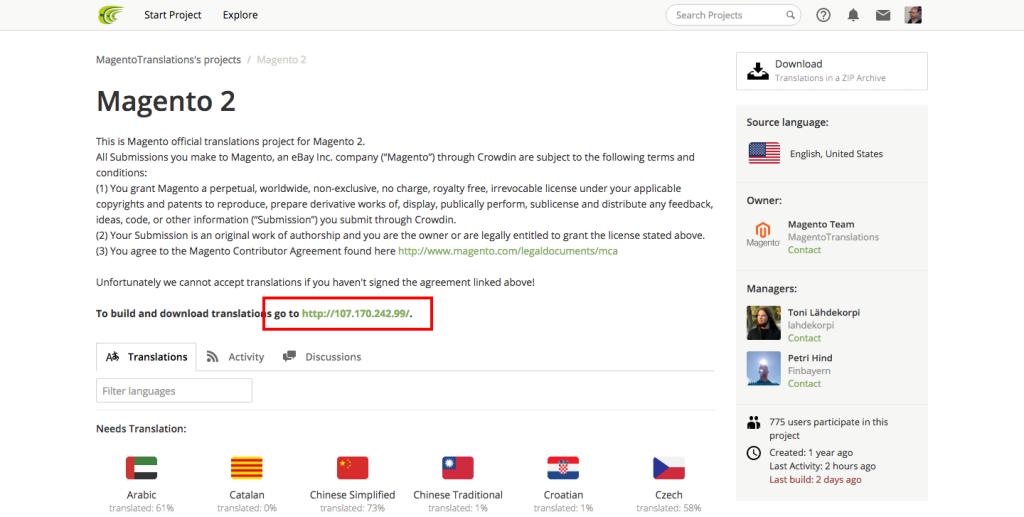 Enlace de descarga de traducciones de Crowding
